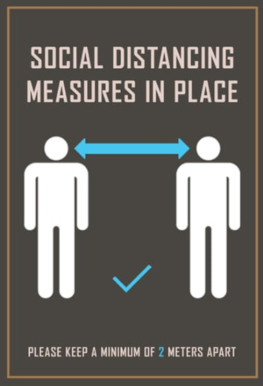 Social DIstancing Measures in Place